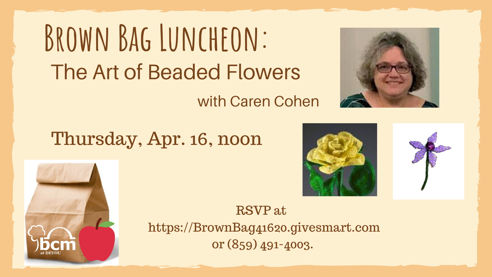 Final Brown Bag Luncheon Beaded Flowers